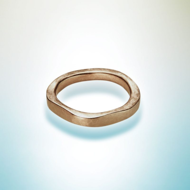 image of london forged ring by Cox & Power in Fairtrade 18ct red gold